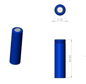 Li-ion-18650-cylindrical-battery 3D