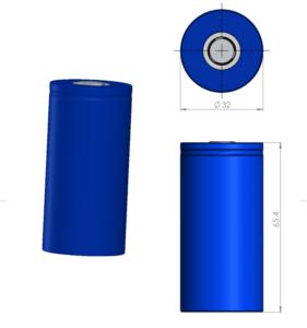 Li-ion-32650-cylindrical-battery 3D